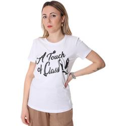 Textil Mulher T-Shirt mangas curtas Fracomina FR20SP306 Branco