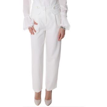 Textil Mulher Chinos Fracomina FR20SP164 Branco
