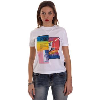 Textil Mulher T-Shirt mangas curtas Versace B2HVB7V630331003 Branco
