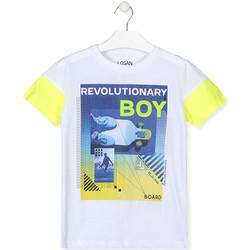 Textil Rapaz T-Shirt mangas curtas Losan 013-1006AL Branco