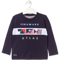 Textil Rapaz T-shirt mangas compridas Losan 015-1002AL Azul
