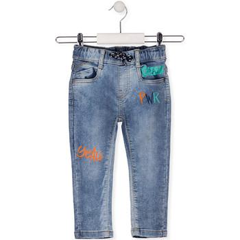Textil Criança Calças de ganga slim Losan 015-6022AL Azul