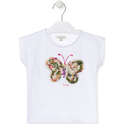Textil Rapariga T-Shirt mangas curtas Losan 016-1790AL Branco