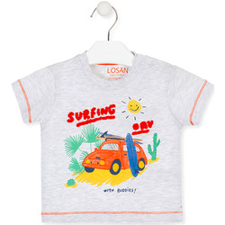 Textil Criança T-Shirt mangas curtas Losan 017-1015AL Cinzento