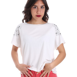 Textil Mulher T-Shirt mangas curtas Gaudi 011FD64022 Branco