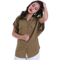 Textil Mulher camisas Gaudi 011BD45030 Verde