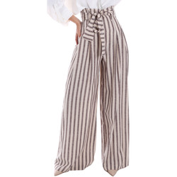 Textil Mulher Calças finas / Sarouels Gaudi 011FD25034 Bege