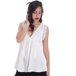 Textil Mulher Tops / Blusas Gaudi 011FD45026 Bege