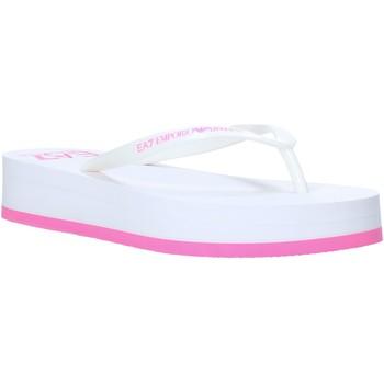 Sapatos Mulher Chinelos Emporio Armani EA7 XFQ008 XK085 Branco