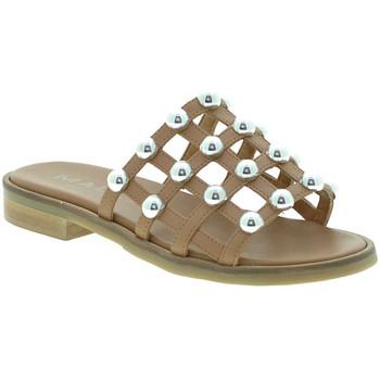 Sapatos Mulher Chinelos Mally 6141 Castanho