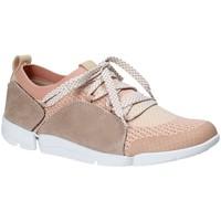 Sapatos Mulher Sapatilhas Clarks 131094 Rosa