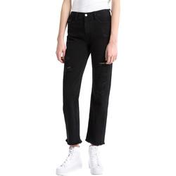 Textil Mulher Gangas boyfriend Calvin Klein Jeans J20J207108 Preto