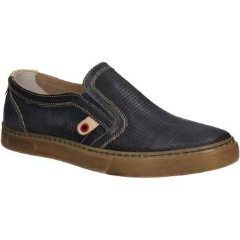 Sapatos Homem Slip on Café Noir QT121 Azul