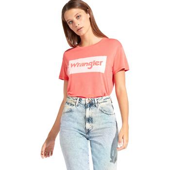Textil Mulher T-Shirt mangas curtas Wrangler W7016D Vermelho