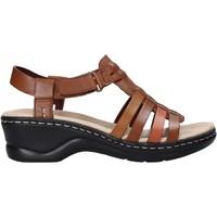 Sapatos Mulher Sandálias Clarks 26139780 Castanho