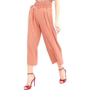 Textil Mulher Calças finas / Sarouels Fracomina FR20SM644 Rosa