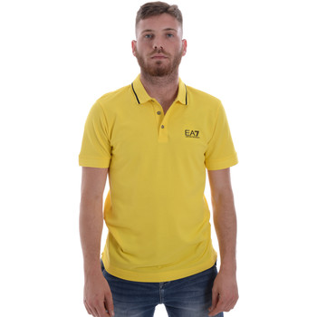 Textil Homem Polos mangas curta Ea7 Emporio Armani 8NPF06 PJ04Z Amarelo
