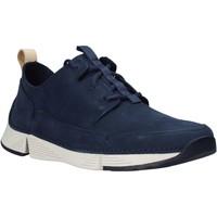 Sapatos Homem Sapatilhas Clarks 26145025 Azul