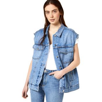 Textil Mulher casacos de ganga Liu Jo FA0344 D4470 Azul