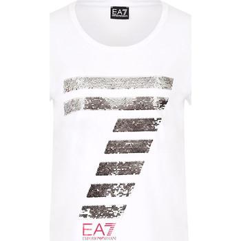 Textil Mulher T-Shirt mangas curtas Emporio Armani EA7 3HTT41 TJ12Z Branco