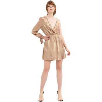 Textil Mulher Vestidos curtos Fracomina FR20SP453 Ouro