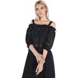 Textil Mulher Tops / Blusas Gaudi 811FD45010 Preto