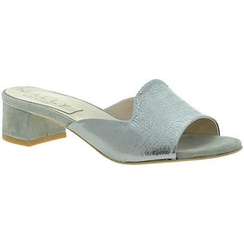 Sapatos Mulher Chinelos Mally 6195 Prata