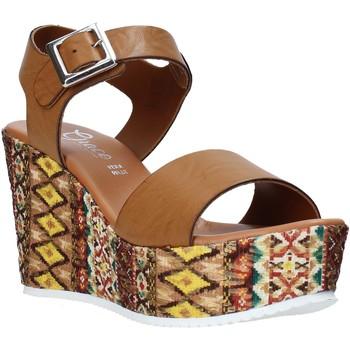 Sapatos Mulher Sandálias Grace Shoes 08 Castanho