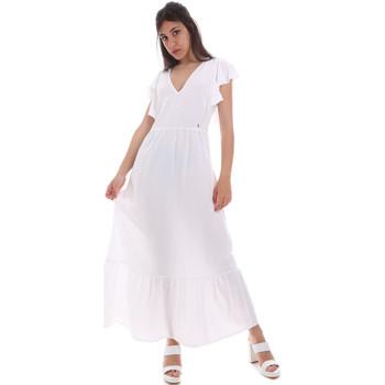 Textil Mulher Vestidos compridos Gaudi 011BD15039 Branco