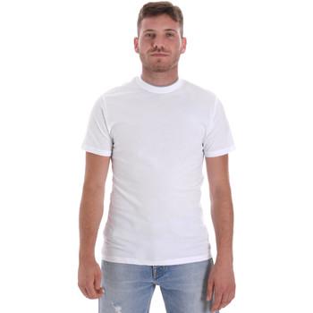 Textil Homem T-Shirt mangas curtas Les Copains 9U9013 Branco