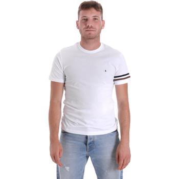 Textil Homem T-Shirt mangas curtas Les Copains 9U9014 Branco