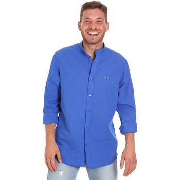 Textil Homem Camisas mangas comprida Les Copains 9U2722 Azul