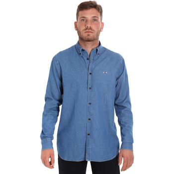 Textil Homem Camisas mangas comprida Les Copains 9U2361 Azul