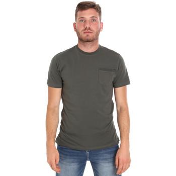 Textil Homem T-Shirt mangas curtas Les Copains 9U9010 Verde