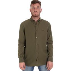 Textil Homem Camisas mangas comprida Les Copains 9U2371 Verde