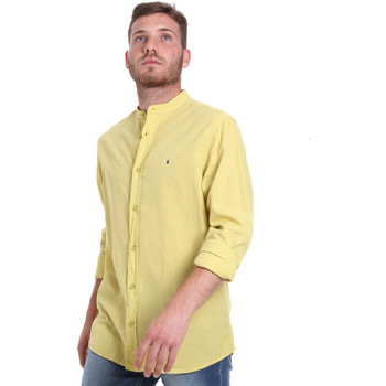 Textil Homem Camisas mangas comprida Les Copains 9U2722 Verde