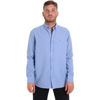 Textil Homem Camisas mangas comprida Les Copains 9U2371 Azul
