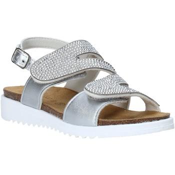 Sapatos Rapariga Sandálias Grunland SB1559 Prata