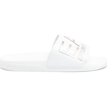 Sapatos Mulher chinelos Emporio Armani EA7 XCP001 XCC22 Branco