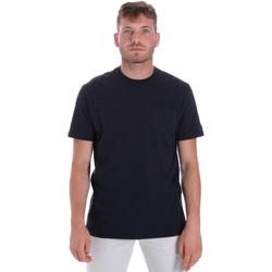 Textil Homem T-Shirt mangas curtas Les Copains 9U9010 Azul