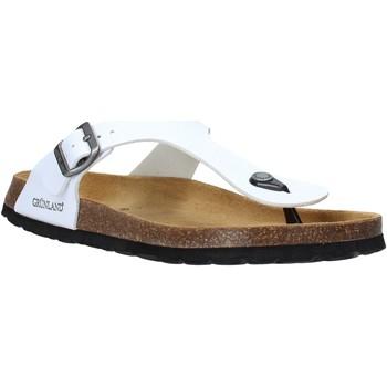 Sapatos Homem Chinelos Grunland CB3014 Branco