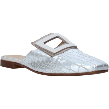 Sapatos Mulher Tamancos Mally 6886 Prata