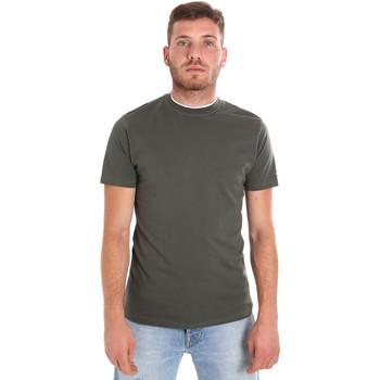 Textil Homem T-Shirt mangas curtas Les Copains 9U9013 Verde