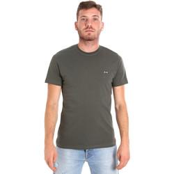 Textil Homem T-Shirt mangas curtas Les Copains 9U9011 Verde