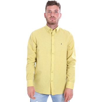 Textil Homem Camisas mangas comprida Les Copains 9U2371 Amarelo