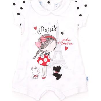 Textil Criança Macacões/ Jardineiras Melby 20P7021 Branco