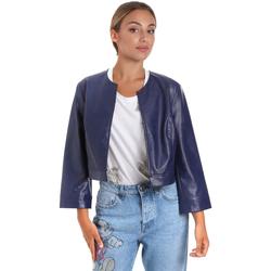 Textil Mulher Casacos de couro/imitação couro Fracomina FR20SM708 Azul