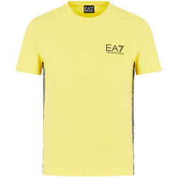 Textil Homem T-Shirt mangas curtas Ea7 Emporio Armani 3HPT07 PJ03Z Amarelo