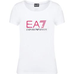 Textil Mulher T-Shirt mangas curtas Emporio Armani EA7 8NTT63 TJ12Z Branco