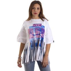 Textil Mulher T-Shirt mangas curtas Versace B2HVB7V730384003 Branco